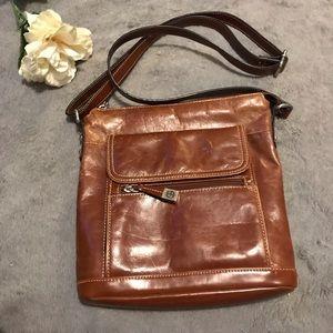 Gianni Bini brown leather crossbody